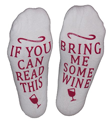 "Wine Socks ""If You Can Read This, Bring Me Some Wine"