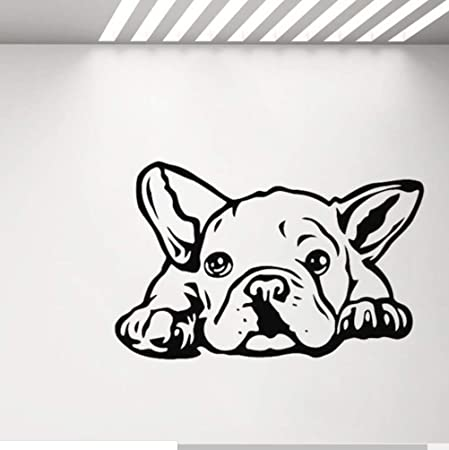 zzlfn3lv Bulldog Vinilo Tatuajes de Pared Sala de Estar decoración ...