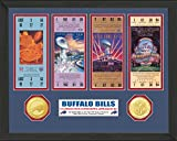 "NFL Buffalo Bills 4 Consecutive Super Bowl Appearances Ticket Collection, 18 "" x 14"" x 3"", Bronze"