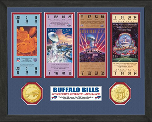 NFL Buffalo Bills 4 Consecutive Super Bowl Appearances Ticket Collection, 18