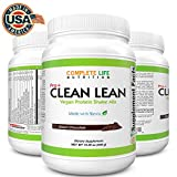 Clean Lean Low Carb Meal Replacement Shake - B Vitamin Packed - Vegan Pea Protein - Paleo with No Artificial Sweeteners (Dutch Chocolate - Stevia)