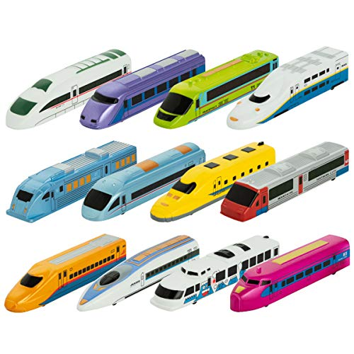 (Pull Back Toy Trains For Kids - 12 Pack Fiction Powered Locomotive Toy 12 Different Colors And Designs, Great Gift For Kids Who Love Playing With Them And Collecting Them, Perfect For Kids Party Favor)