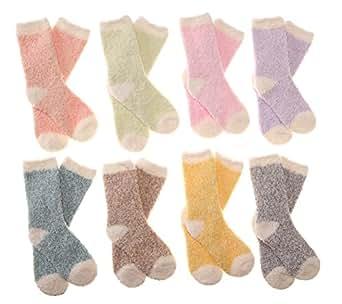 Amazon.com: Eocom Kid Super Warm Fuzzy Soft Socks Toddler