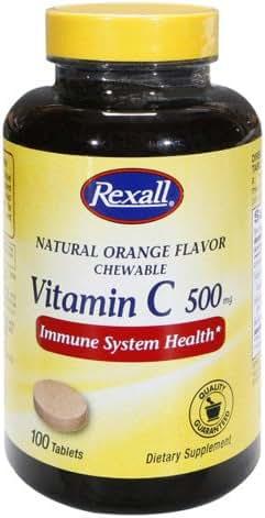 Rexall Vitamin C 500 Mg - Orange Chewable Tablets, 100 Ct