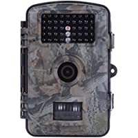 ESHOWEE Wildlife Camera Trail Hunting Game 12MP 1080P HD Scouting Surveillance IP54 Waterproof Digital Activated Camera With 42Pcs 65 Foot Night Vision Motion.