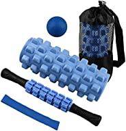 Foam Rollers,5 in1High Density Foam Roller Set with Massage Ball ,Massage Roller Stick and Exercise Resistance