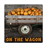 Past Time Signs on the Wagon Pumpkin Novelty Farm Sign
