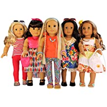 Nashville Toy 16-Piece Clothes and Accessories Set for 18-Inch American Girl Dolls, Set of 5