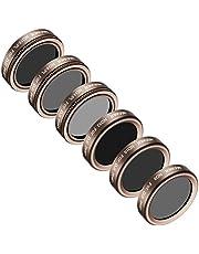 Neewer 6 Stück Objektiv-Filter-Set für DJI Phantom 4 Pro Multi-beschichtet hochauflösendem-Glas und Aluminium-Legierung Rahmen: ND4/PL ND8/PL ND16/PL ND8 ND16 und ND32 (Gold)