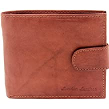 RAS WALLETS Men's Leather Wallet With Card Holder And Full Length Zip Section