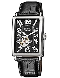 Gevril Men's 'Avenue of Americas' Automatic Stainless Steel and Leather Casual Watch, Color:Black (Model: 5071)