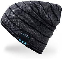 Rotibox Outdoor Bluetooth Beanie Hat Cap w/Kopfhörer Headset Stereo Lautsprecher & Mikrofon Hände frei Call für Running Skifahren Arbeiten Out Weihnachten Geschenk …