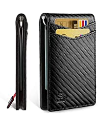 Minimalist Slim Bifold Front Pocket Wallet with Money Clip for men, Effective RFID Blocking & Smart Design