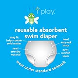 i Play. Baby, Infant and Toddler Reusable Absorbent Swim Diaper for Girls