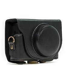 "MegaGear ""Ever Ready"" Protective Black Leather Camera Case , Bag for Sony Cyber‑shot DSC‑RX100 V, DSC-RX100M II, DSC-RX100 III, DSC-RX100 IV Digital Camera"