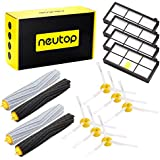 Neutop 14pcs Accessories for iRobot Roomba 880 800 980 870 860 960 900 805 Robotic Vacuum Cleaner ( 4 Hepa Filters, 6 Side Brushes, 4 Rollers)