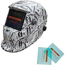 TOSENBA Welding Helmet Auto Darkening Hood Solar Power with Adjustable Shade Range 4/9-13 for Mig Tig Arc Weld Grinding Welder Mask (money)