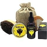 Sonolife - Kit de Productos para Barba con Aceite, Cera, Cepillo y Peine