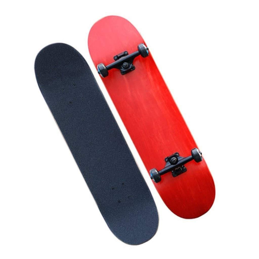 スケートボード スケートボード男の子と女の子初心者向けスケートボードブラッシュストリートトラベルスケートボードダブルワーピングボードスケートボード四輪スケートボードギフト (Color : 赤, Size : 80*20*10cm) 赤 80*20*10cm