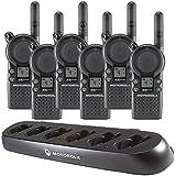 6 Motorola CLS1410 - UHF 1 Watt 4 Channel Radios & 1 Motorola 56531 6 Radio Charger(Black)