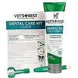 Vet's Best Complete Enzymatic Dental Care Gel & Toothbrush Kit for Dogs