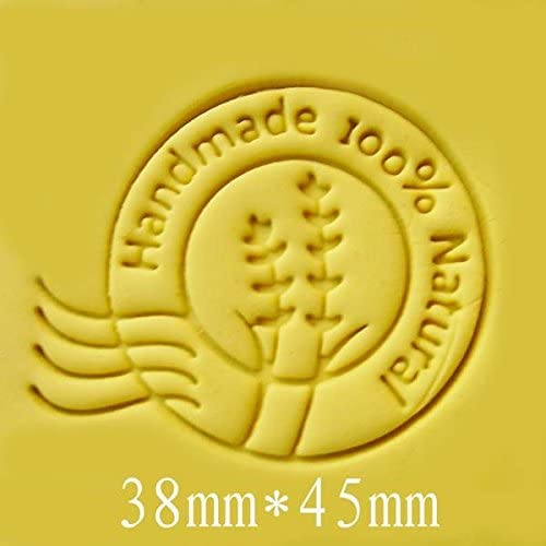 Amazon.com: Round Handmade 100% Natura pattern Mini diy soap stamp chaprter seal 3.84.5cm: Kitchen & Dining