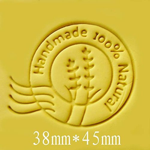 Round Handmade 100% Natura pattern Mini diy soap stamp chaprter seal 3.84.5cm