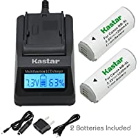 Kastar Ultra Fast Charger(3X faster) Kit and Battery (2-Pack) for Canon NB-9L and Canon PowerShot N, N2, SD4500, SD4500 IS, ELPH 510 HS, ELPH 520 HS, ELPH 530 HS Cameras