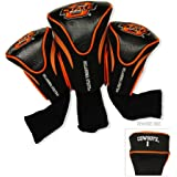 Team Golf NCAA Oklahoma State Cowboys Contour Golf Club Headcovers (3 Count), Numbered 1, 3, & X, Fits Oversized Drivers, Utility, Rescue & Fairway Clubs, Velour lined for Extra Club Protection