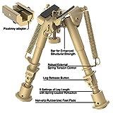 CVLIFE 6-9 Inches Rifle Bipod Picatinny Bipod, Flat