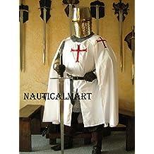 NAUTICALMART Medieval Knight Heraldry SCA Templar Crusader surcoat & Cloak
