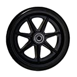 Stander 4301 Walker Replacement Wheels, Black, 2-Count
