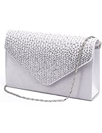 60bf5bdacad Women Evening Envelope Handbag Party Bridal Clutch Purse Shoulder Cross  Body Bag