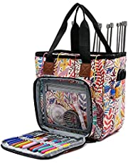 SumDirect Yarn Bag, Knitting Organizer Tote Bag Portable Storage Bag for Yarns, Carrying Projects, Knitting Needles, Crochet Hooks, Manuals and Other Accessories