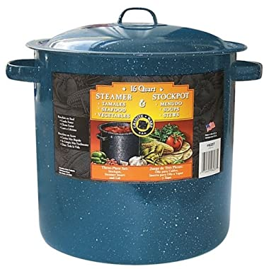 Granite Ware 6237-2 15.5-Quart Tamale and Menudo Pot with Insert