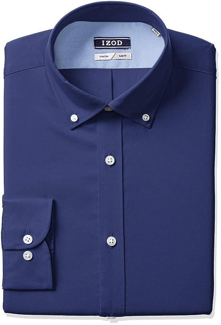 Bleu Nuit 42 cm Cou 81 cm- 84 cm Manche Izod Homme 2301388 Manches Longues Chemise habillée