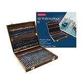 Derwent Watercolor Pencils, 3.4mm Core, Wooden Box, 48 Count (0700758)