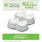 4 Dirt Devil Style F5 Filters for Scorpion Hand Vacs; Compare to Dirt Devil Part No. 3DEA950001; Designed & Engineered by Think Crucial