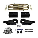 "Supreme Suspensions - Ranger Lift Kit 3"" Front Suspension Lift MAX-Torsion High-Strength Carbon Steel + 2"" Rear Suspension Lift CNC Machined Aircraft Billet 4WD 4X4 Ranger Leveling Kit (Black) Ford Ranger Lift Kit PRO"