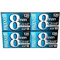 Maxell 8mm GX-MP120 Videotapes (4-pack)