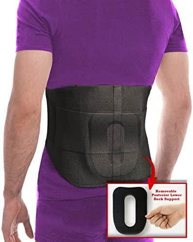 Lumbar Support Back Brace Belt For Men And Women, With Removable Mold Contoured According To Your Lumbar (3X-Large (50