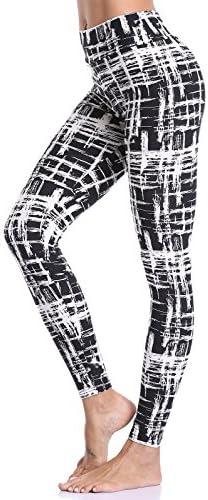 aenlley Leggings Cintura Alta Impreso Spandex para mujer–Ultra suave entrenamiento legging