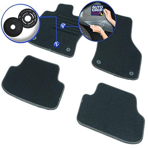 DBS 1765806 Tapis Auto - Sur Mesure - Tapis de sol pour Voiture - 4 Pièces - Antidérapant - Moquette noir 900g/m² - Finition Velours - Gamme Elite