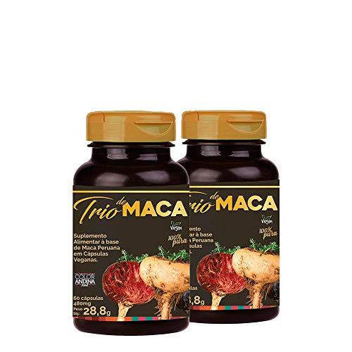 Trio de Maca Peruana (Preta, Vermelha e Amarela) Color Andina Food, Veg, 120 caps