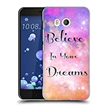 Official Haroulita Believe Glitter Sparkle Hard Back Case for HTC U11 / Dual