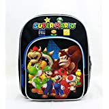"Mini Backpack - Nintendo - Super Mario Group Black 10"" New SD28261"