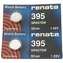Renata 395 Button Cell watch battery, 2 PCS