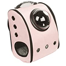 MWGears Back-Pack Style Pet Carrier for Small Dogs and Cats and other furry friends w/Half Moon Dome Portal & switchable mesh panel (Light Pink)