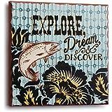 DEMDACO Big Sky Carver Explore Trout Plaque