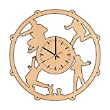 The Beatles Rock natural wood wall clock - Get unique kitchen wall decor - Gift ideas for men, women, parents- Unique Music art - Leave us a feedback and win your custom clock